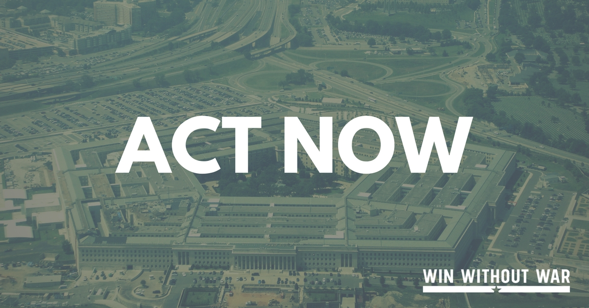 Tell Congress: Progressive NDAA NOW!