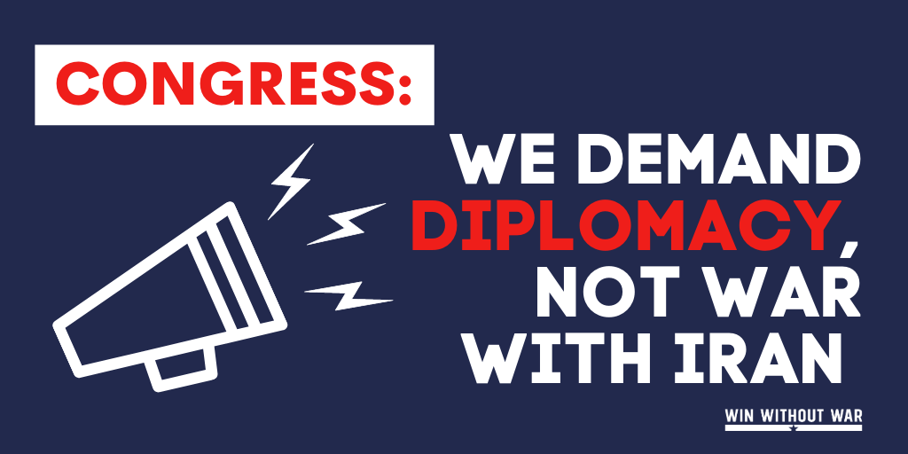 Congress: We demand diplomacy with Iran!