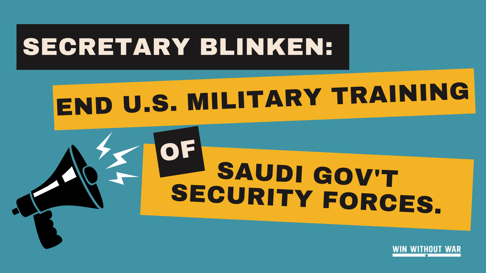 Secretary Blinken: Halt ALL military training of Saudi government security forces