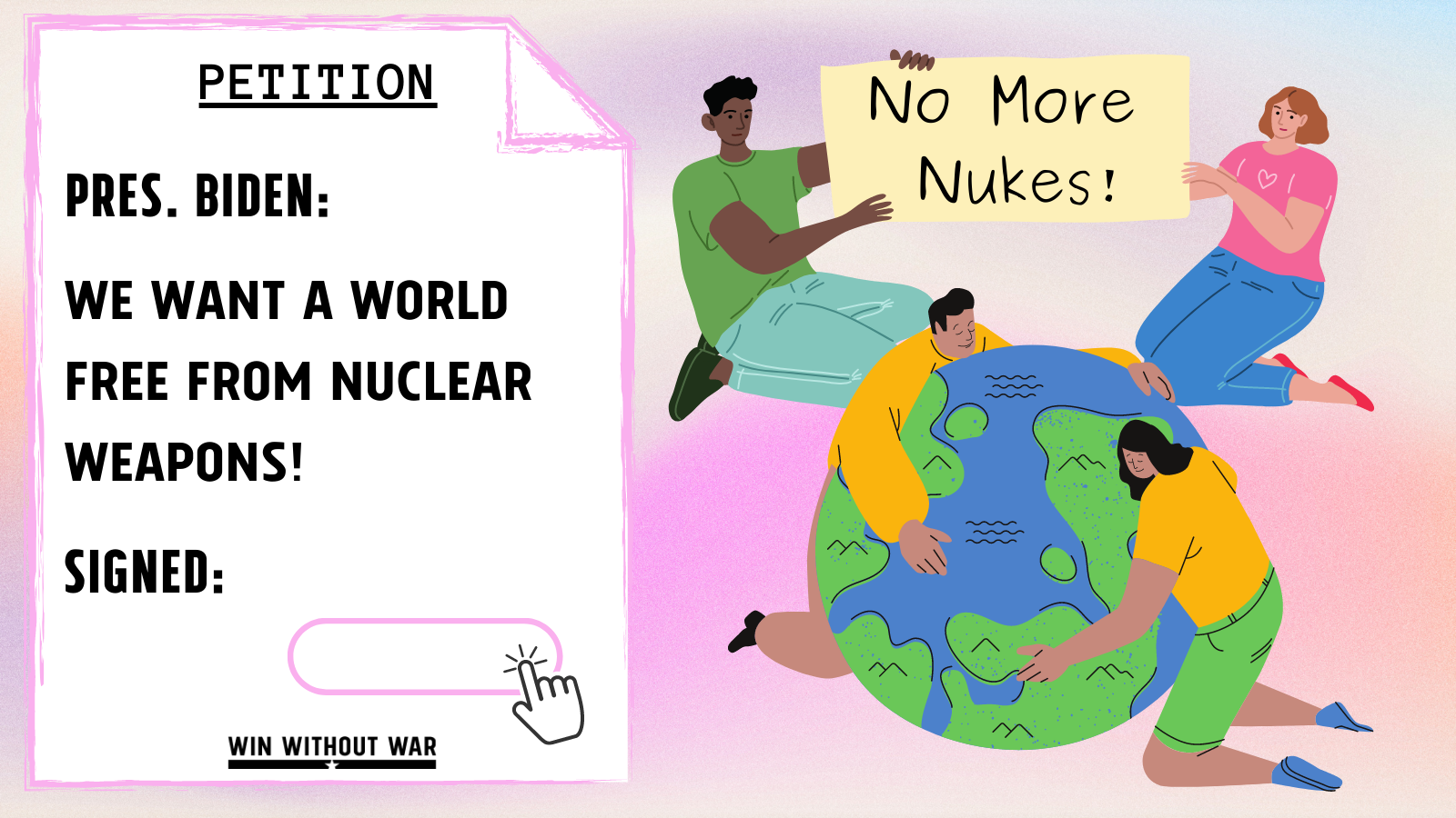 President Biden: We want a world free from nukes!