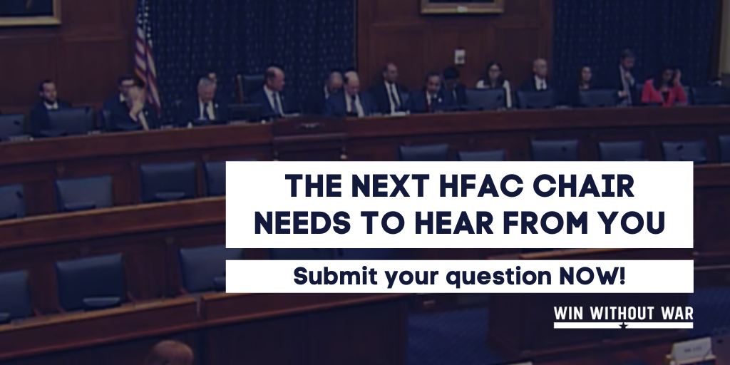 What would you ask the next HFAC Chair?