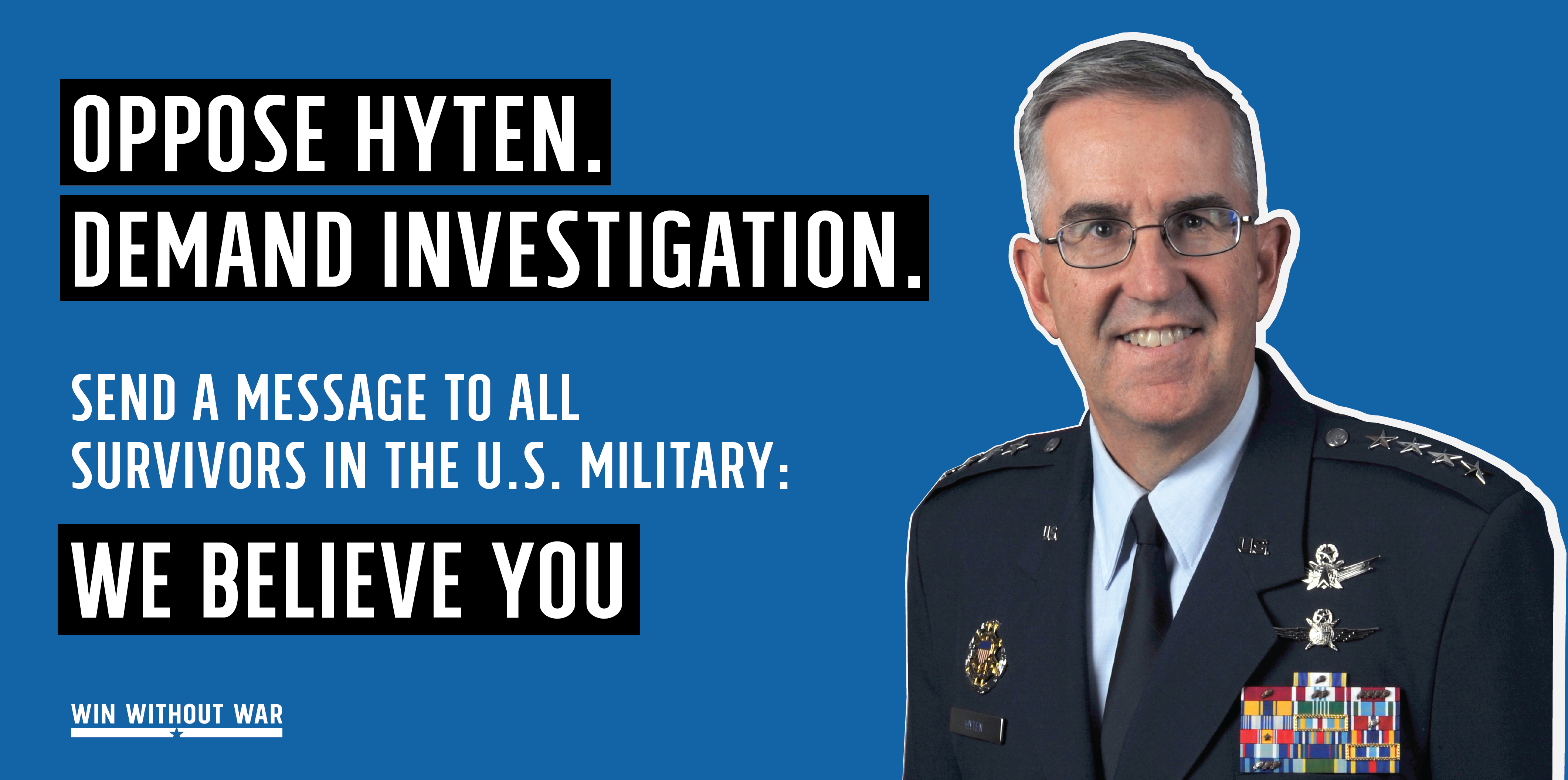 Tell the Senate: Oppose Hyten's confirmation!