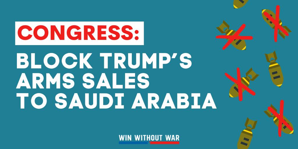 Congress: Block Trump's arms sales to Saudi Arabia
