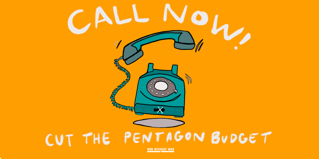 Call Your Rep: Cut the Pentagon budget now!