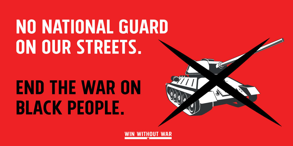 Tell your Governor: National Guard off our streets NOW!