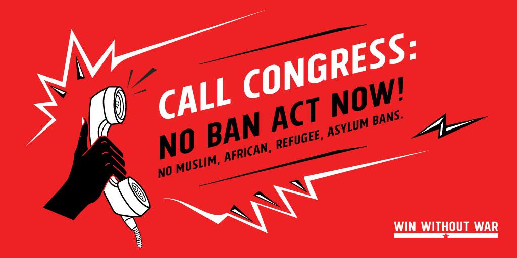 Call Congress: NO BAN Act now!