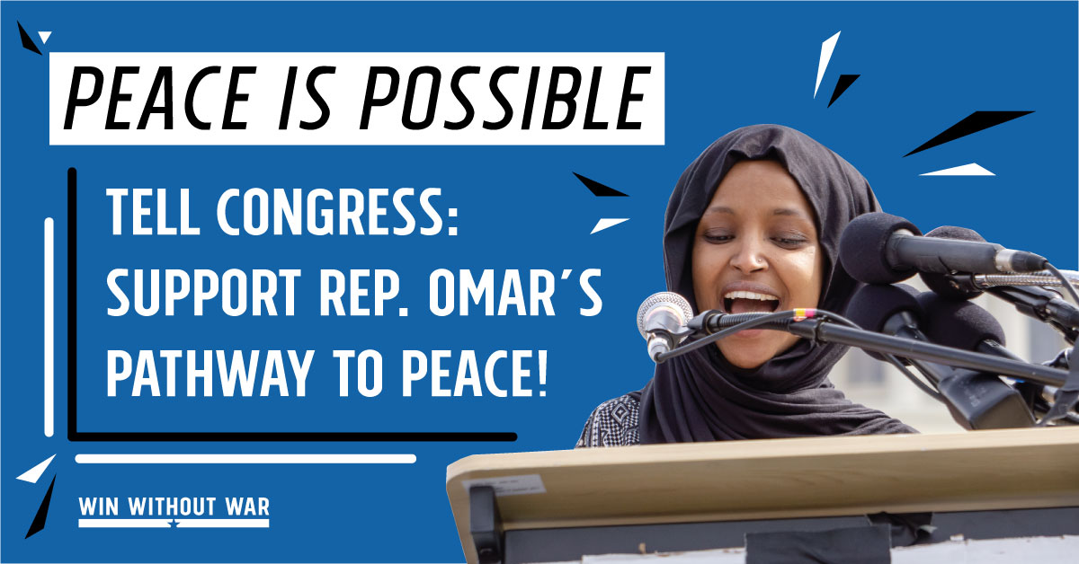Tell Congress: Pathway to PEACE now!