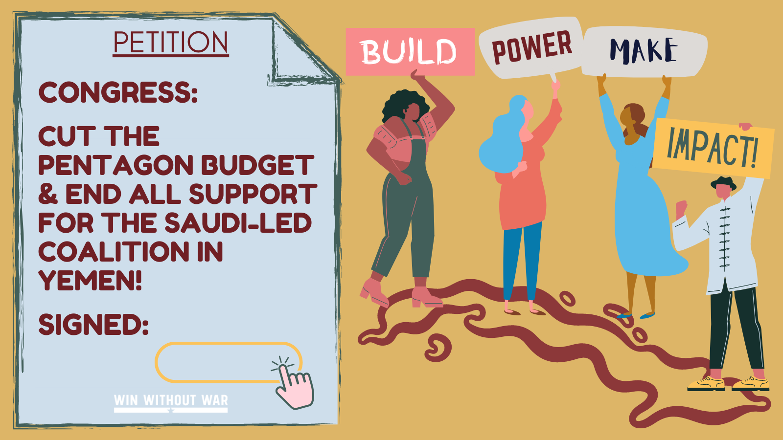 Congress: Cut the Pentagon Budget & end complicity in Yemen!
