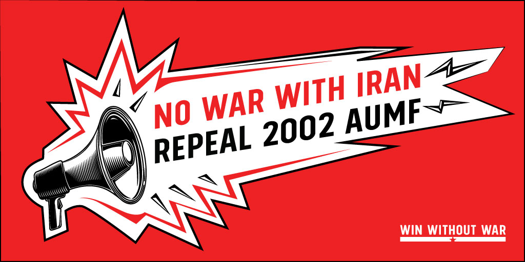 Write Congress: No war with Iran! Repeal 2002 AUMF!