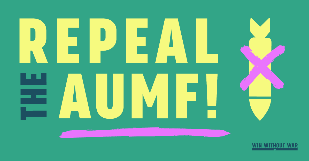 Repeal the 2002 AUMF!