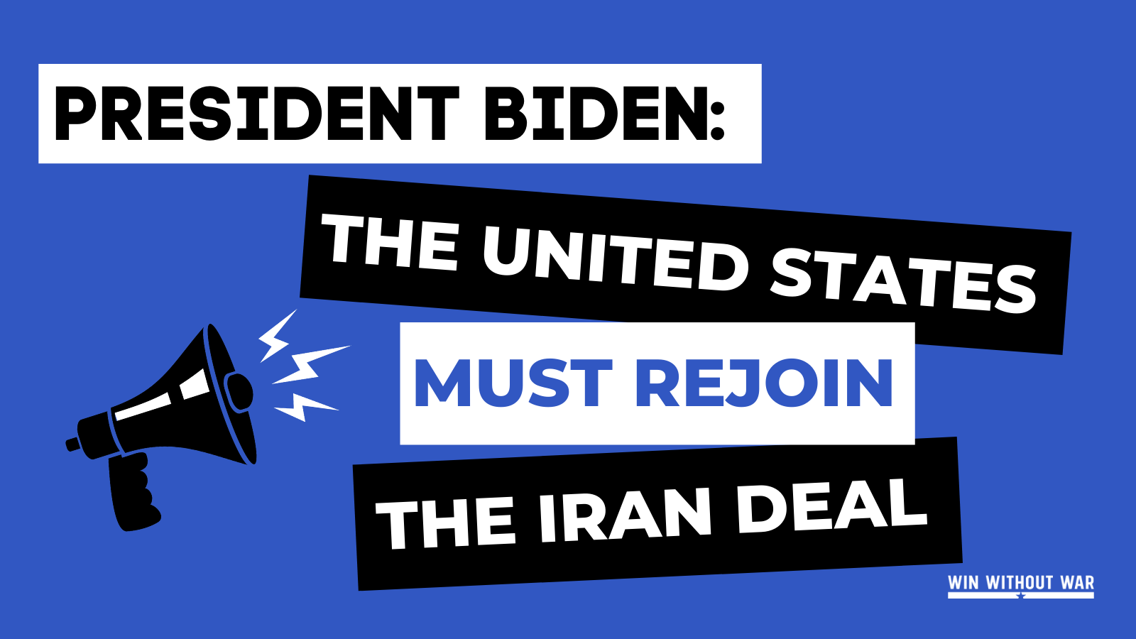 Sign if you agree: The United States must rejoin the Iran deal