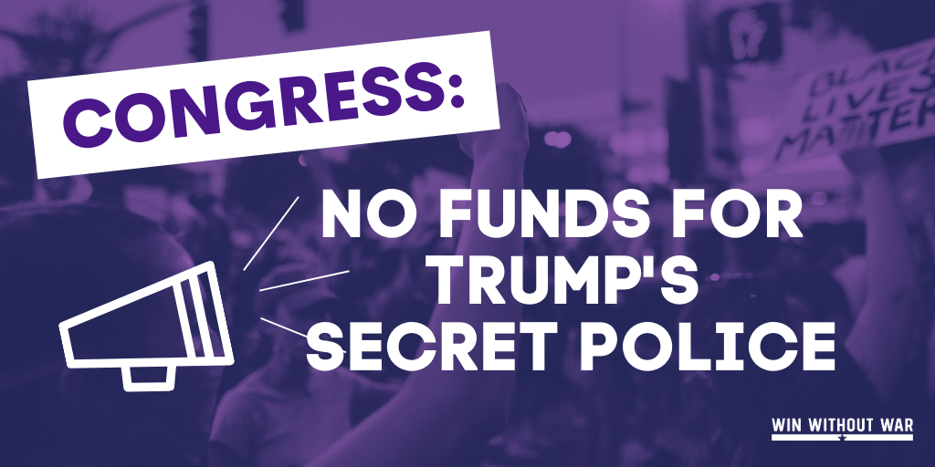 Tell Congress: No funds for DHS while Trump wages war in our cities!