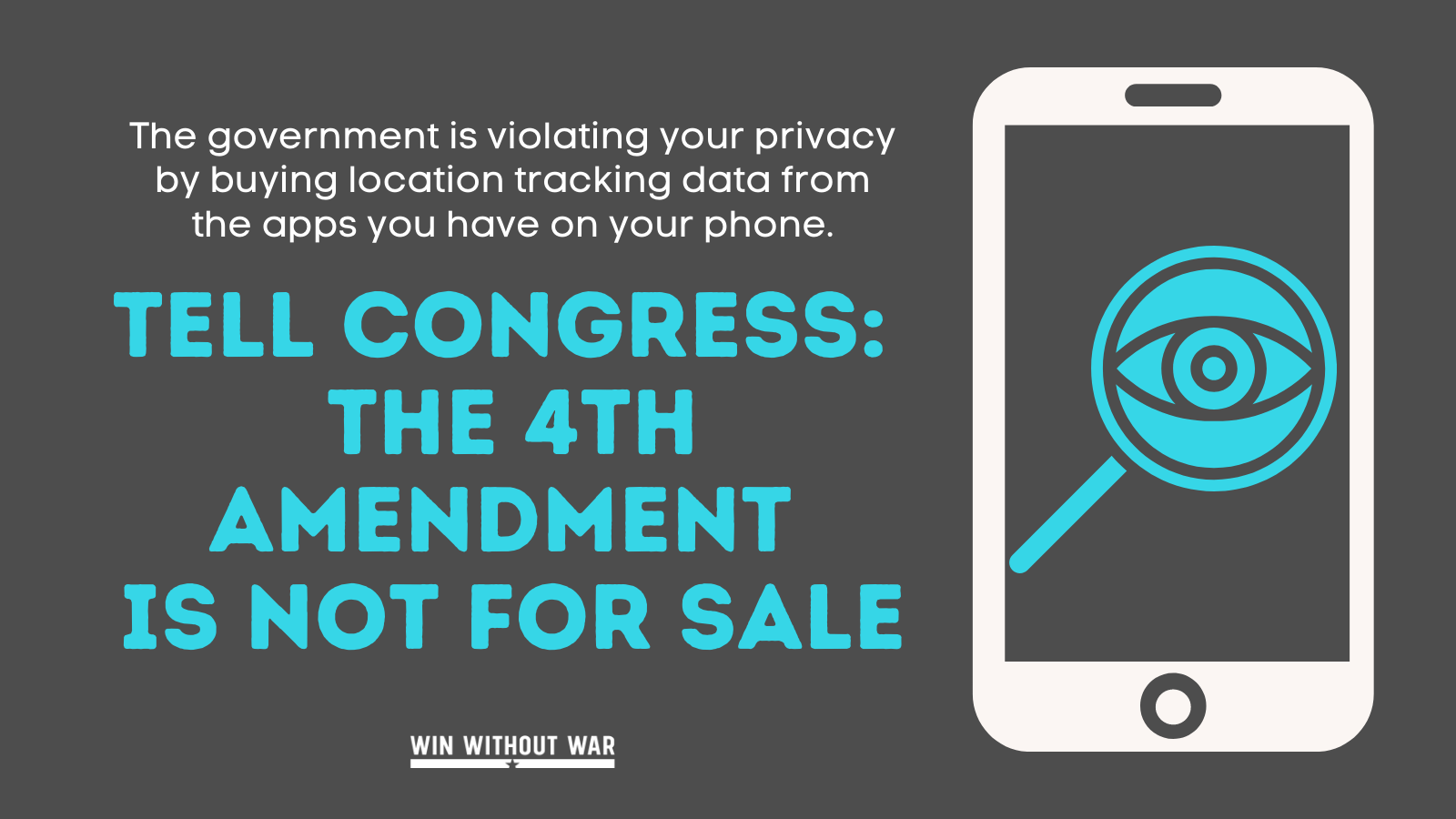 The 4th Amendment is not for sale!