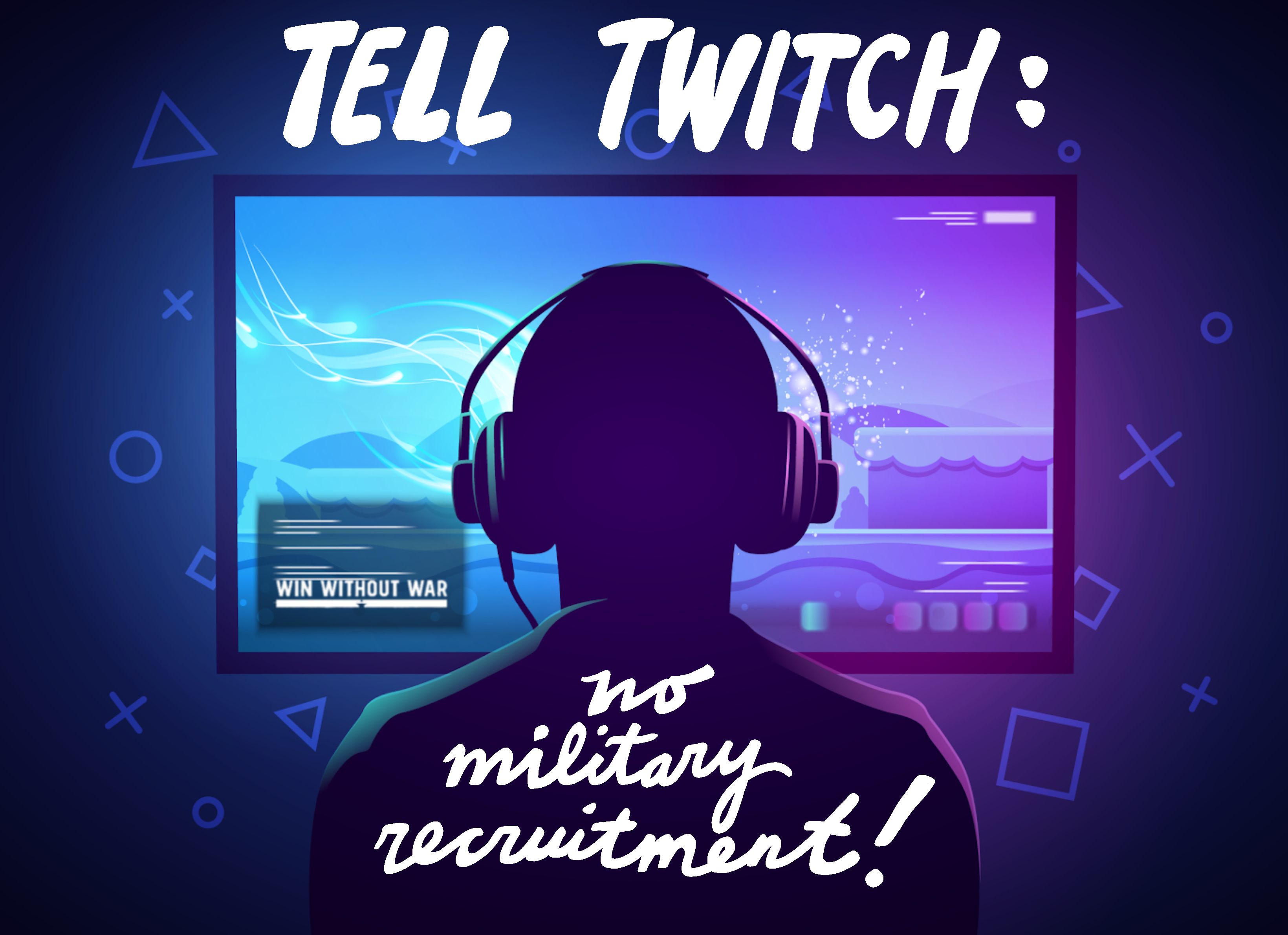 Tell Twitch: Ban military recruitment now!