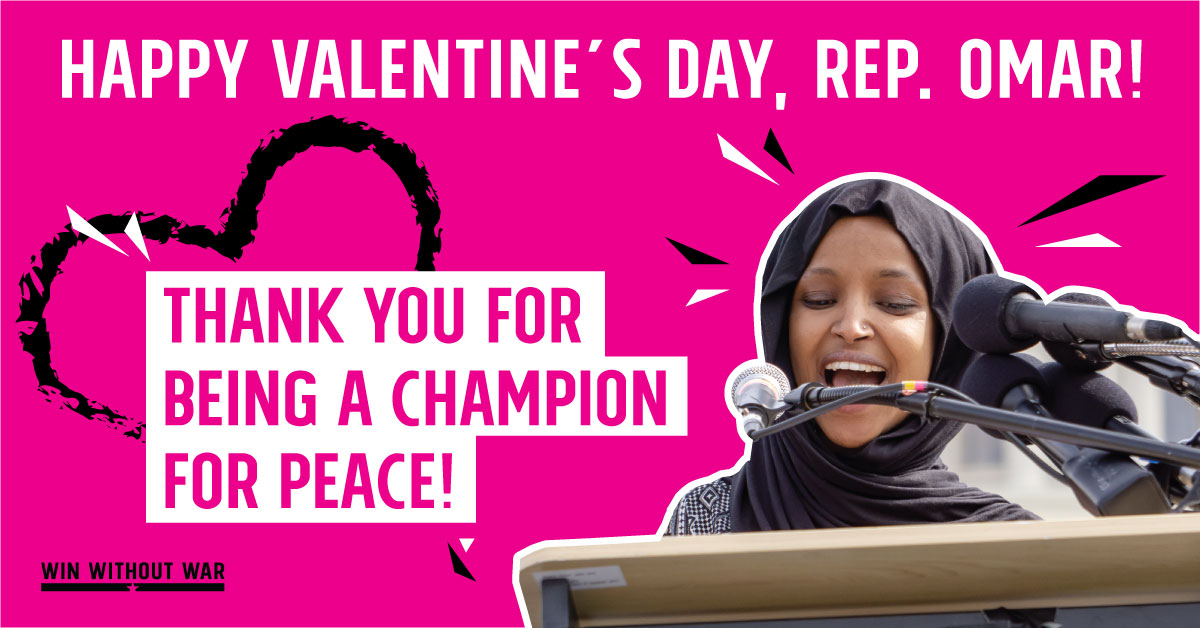 Thank Rep. Omar for paving a Pathway to PEACE!