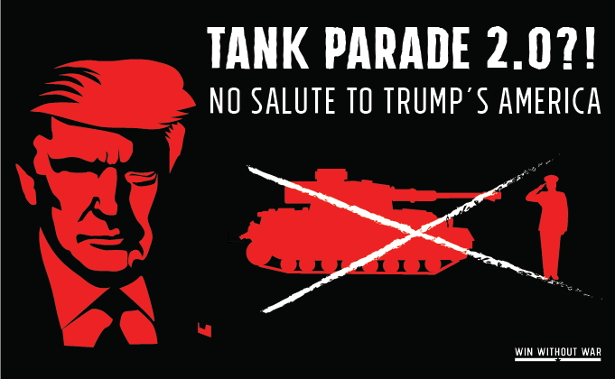 Stop Trump's new ego parade NOW!