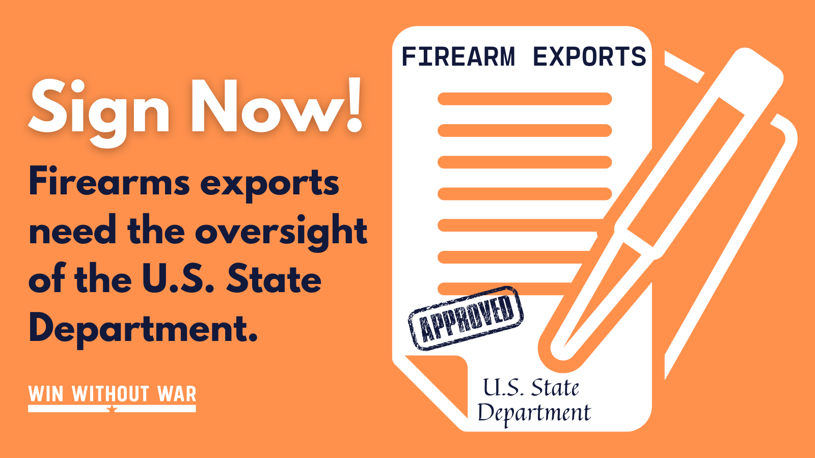 Tell President Biden: Restore State Department authority over firearms exports