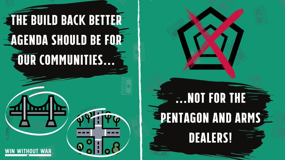 Write your Rep: No Pentagon $ in infrastructure bills