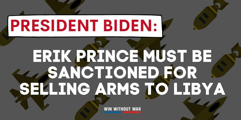 Urge Biden: Call for UN sanctions on Erik Prince