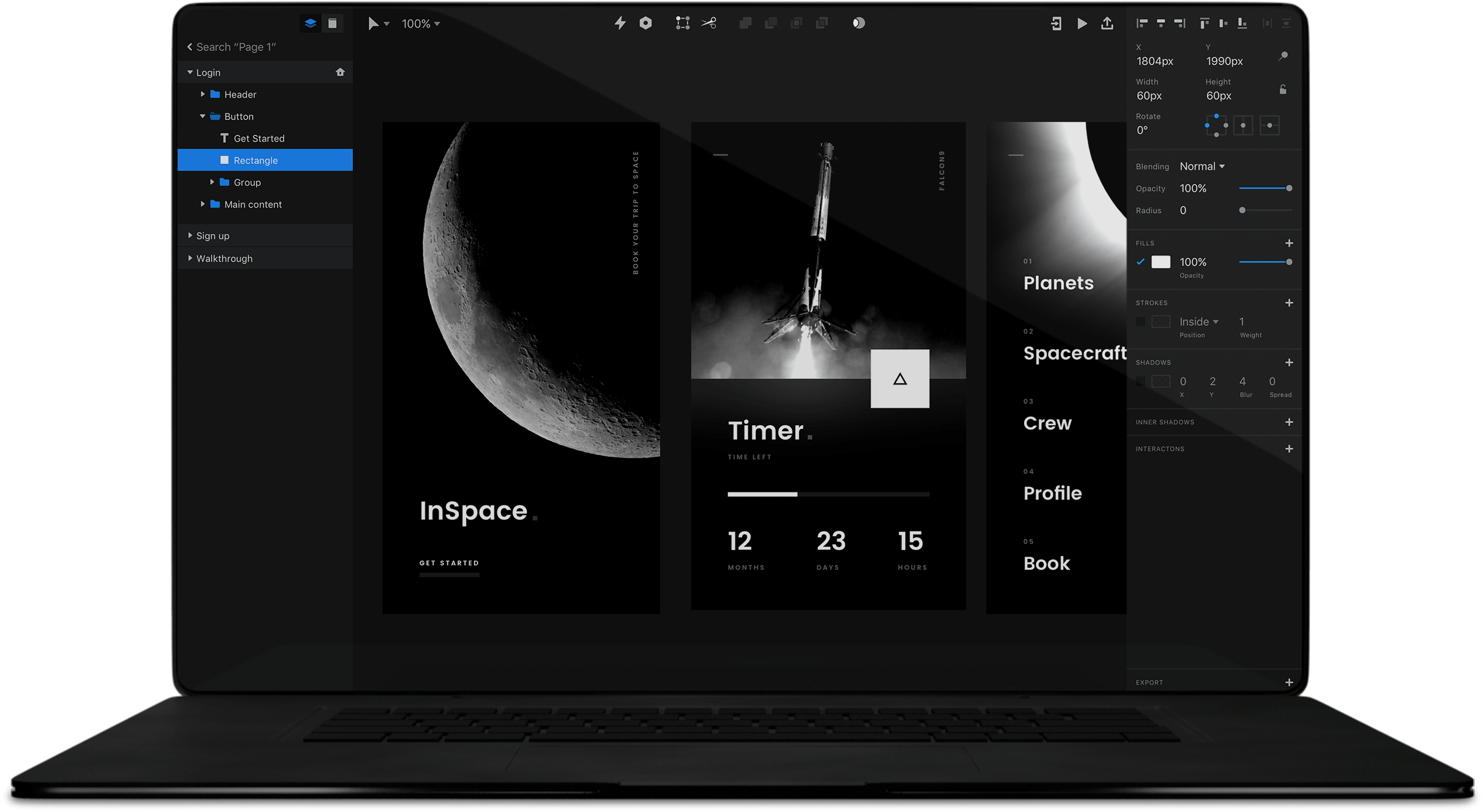 Invision Studio Screen Design Redesigned