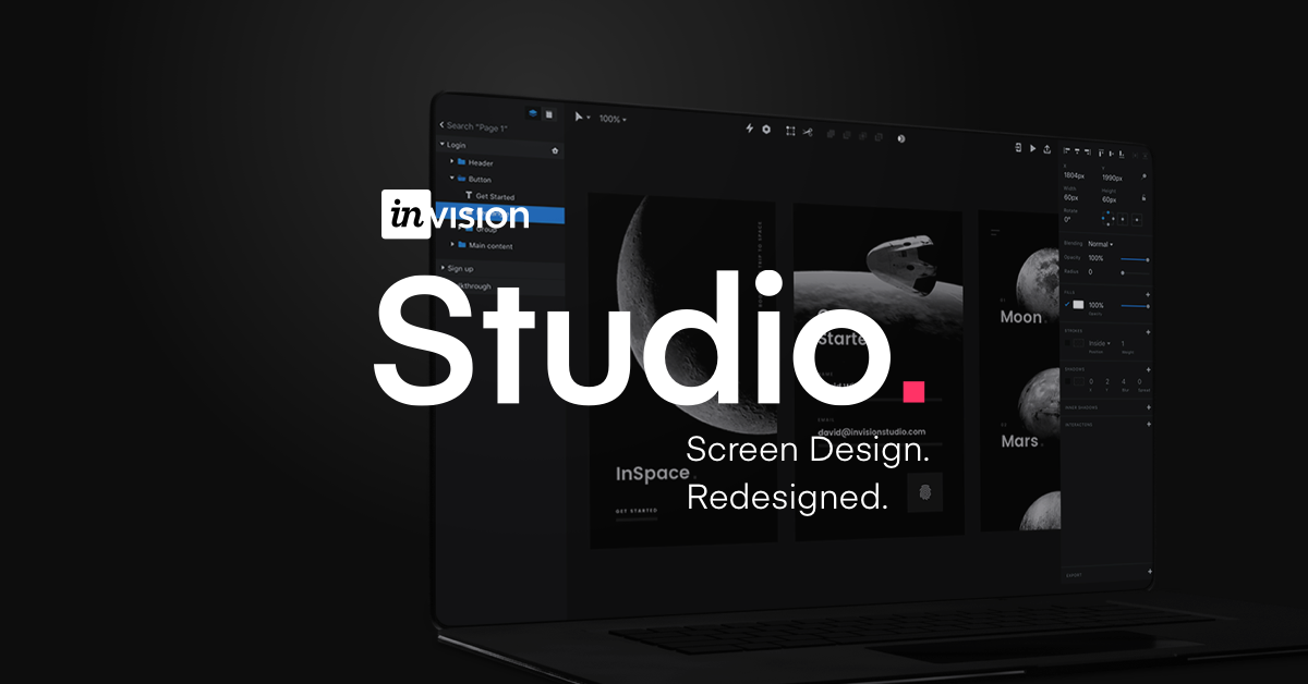 InVision Studio | Screen Design  Redesigned