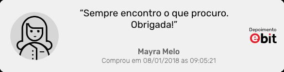Depoimento da cliente Mayra Melo