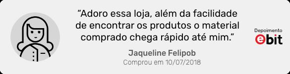 Depoimento da cliente Jaqueline Felipob