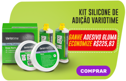 Kit Silicone de Adição Variotime - Ganhe Adesivo Gluma