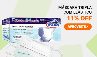Máscara Tripla com Elástico - 11% OFF