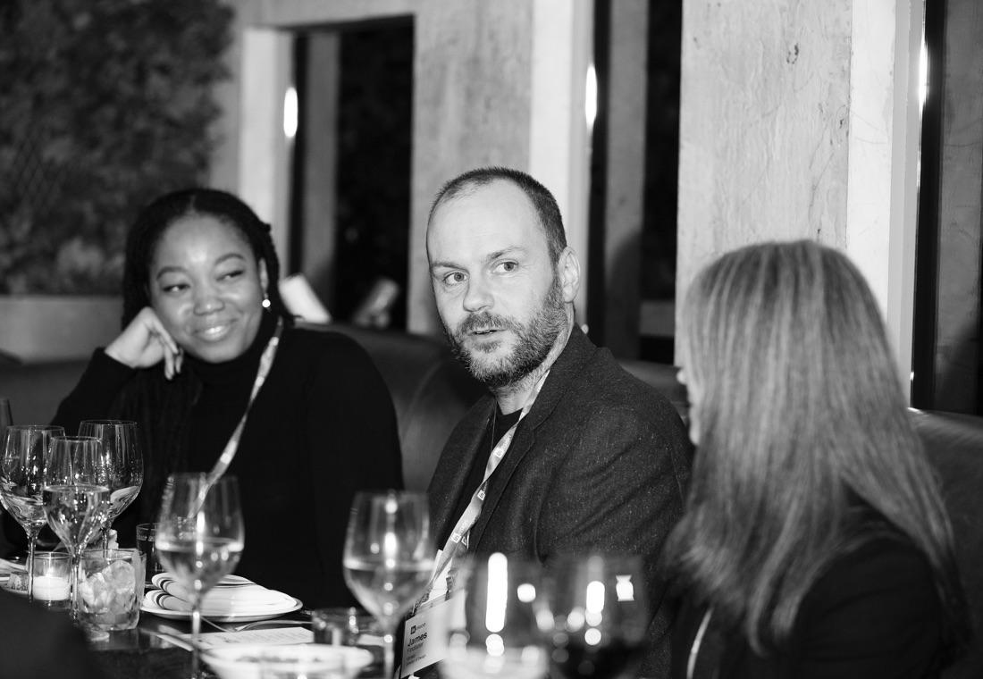 Shani Sandy (S+P Capital), James Findlater (Vimeo), Laura Hahn (Priceline) at the New York City dinner.