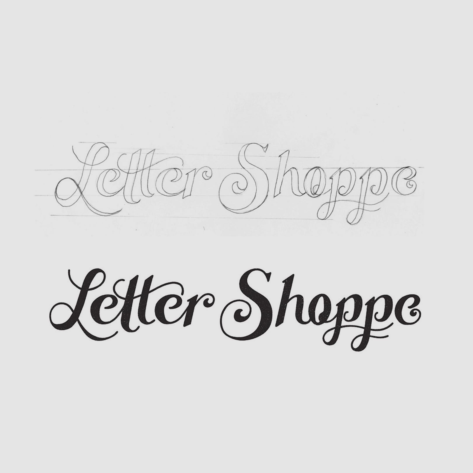 creating a hand-lettered logo design   inside design blog