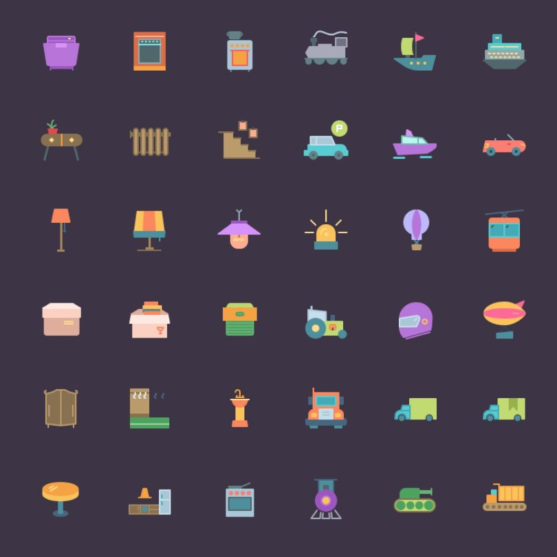 Free icon set—Download 192 transport and household icons