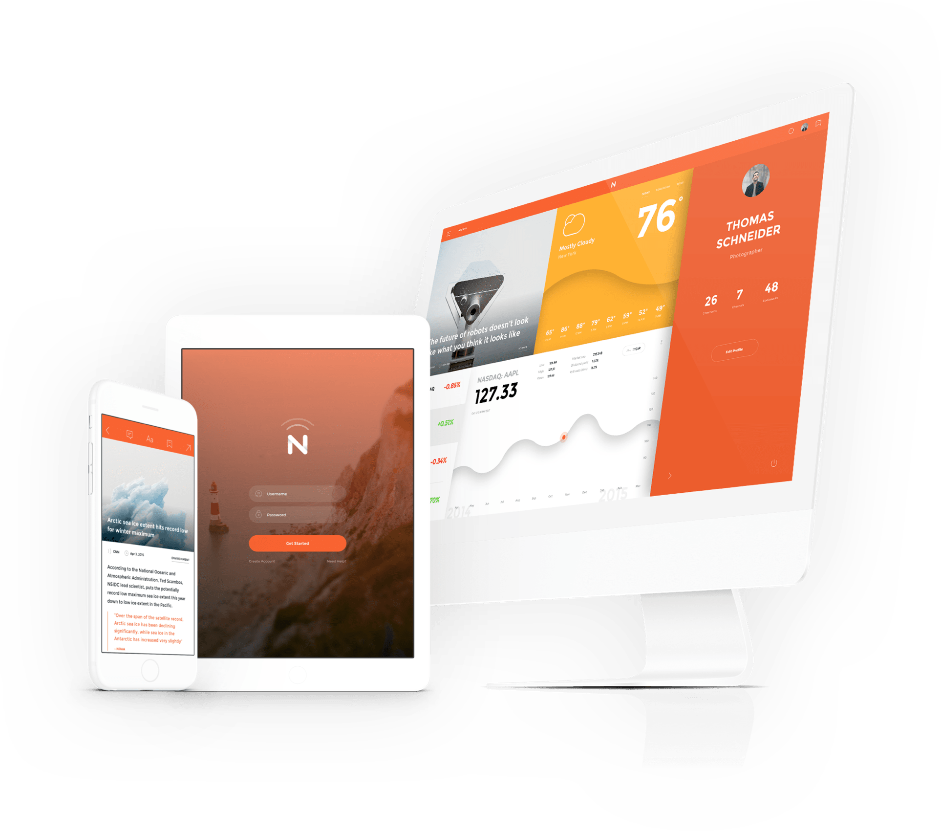 Get the Now UI kit today.