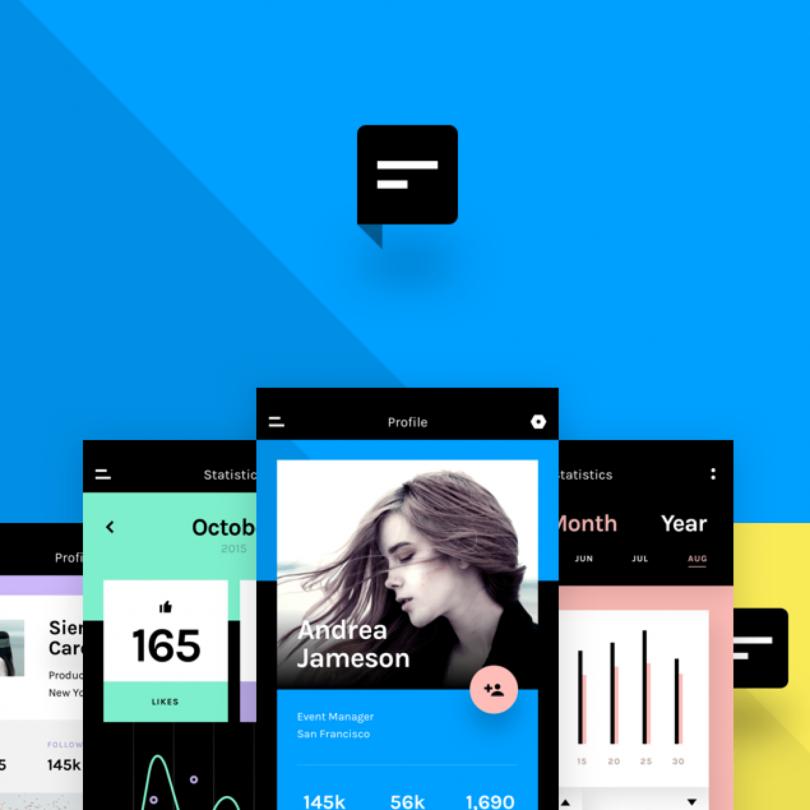 Chat: A minimal mobile app UI kit | Inside Design Blog