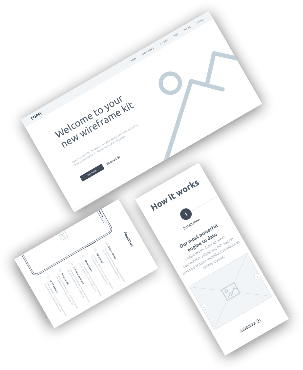 Form: A free wireframe kit from InVision.