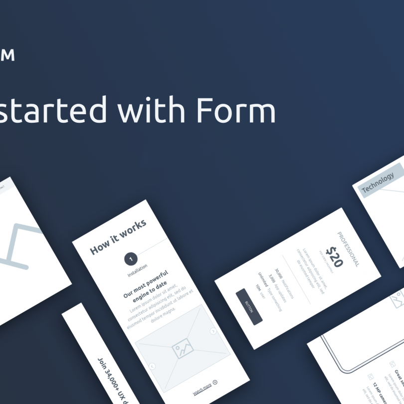 Form: Free wireframe kit from InVision
