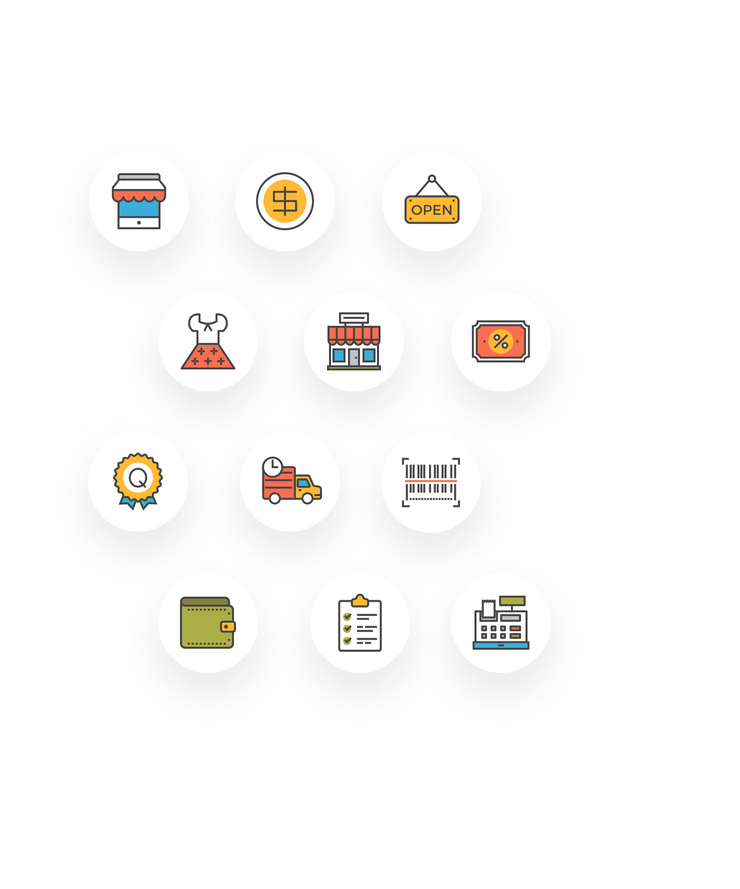 38 free, flat-line ecommerce icons for your next product design project.