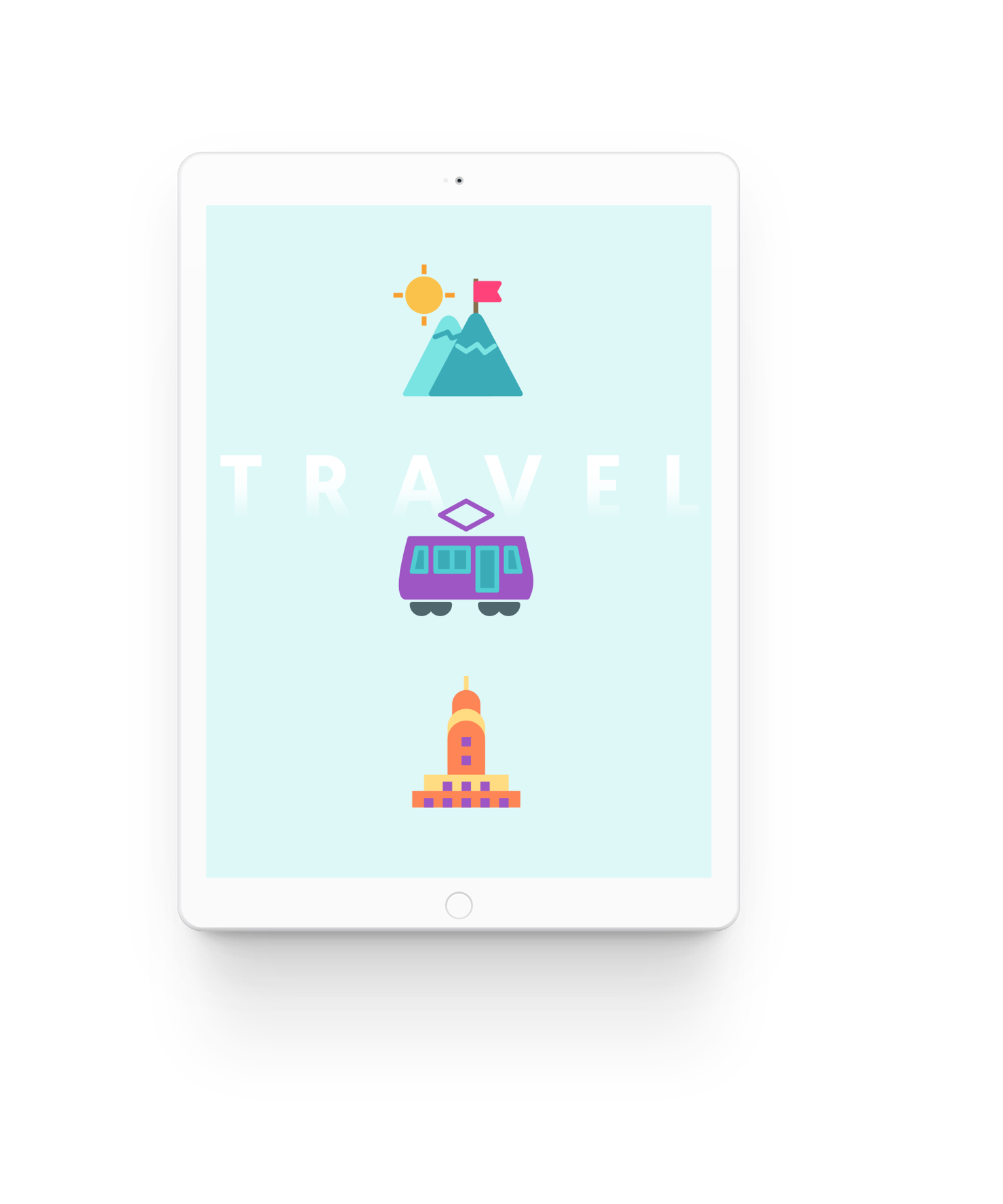 96 custom, colorful travel icons that will fuel wanderlust.