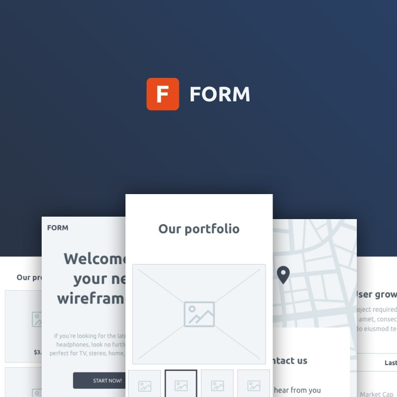 form a free wireframe kit from invision inside design blog