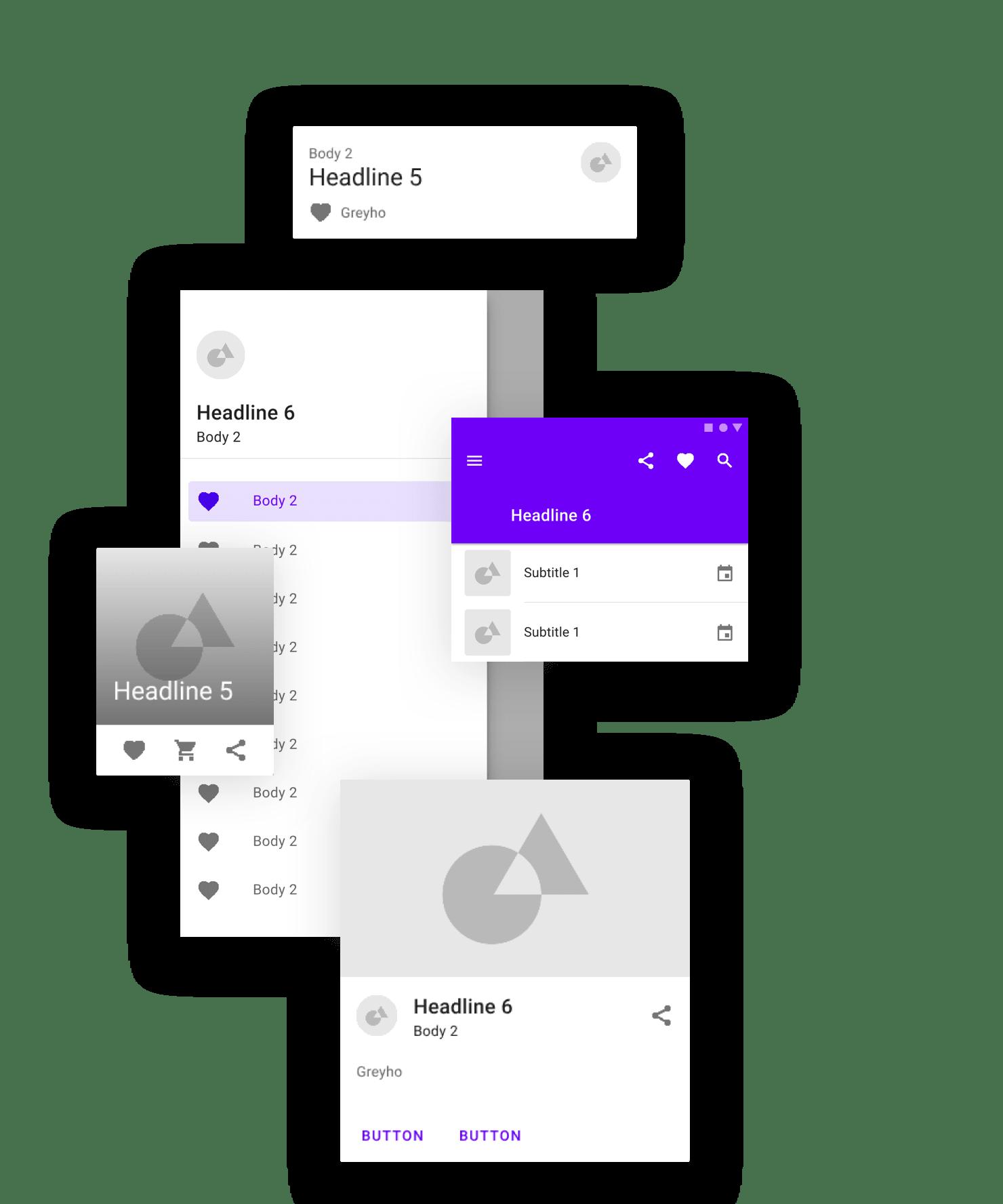 Get a head start using Studio Material Design UI Kit