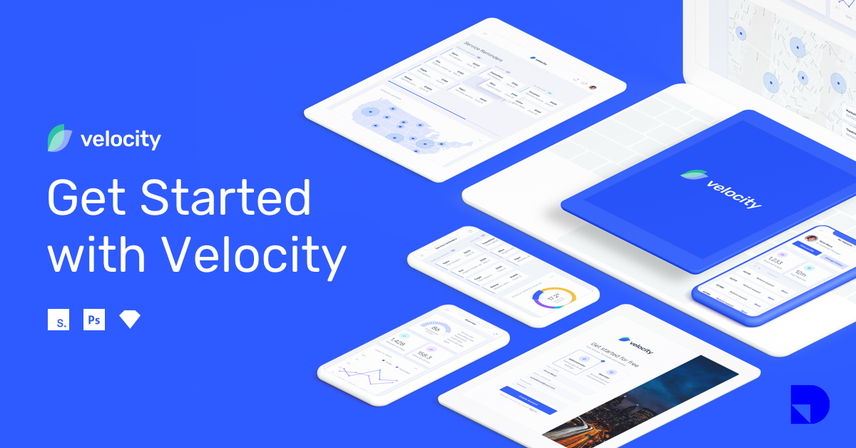 Velocity: A dashboard UI kit with a robust design system