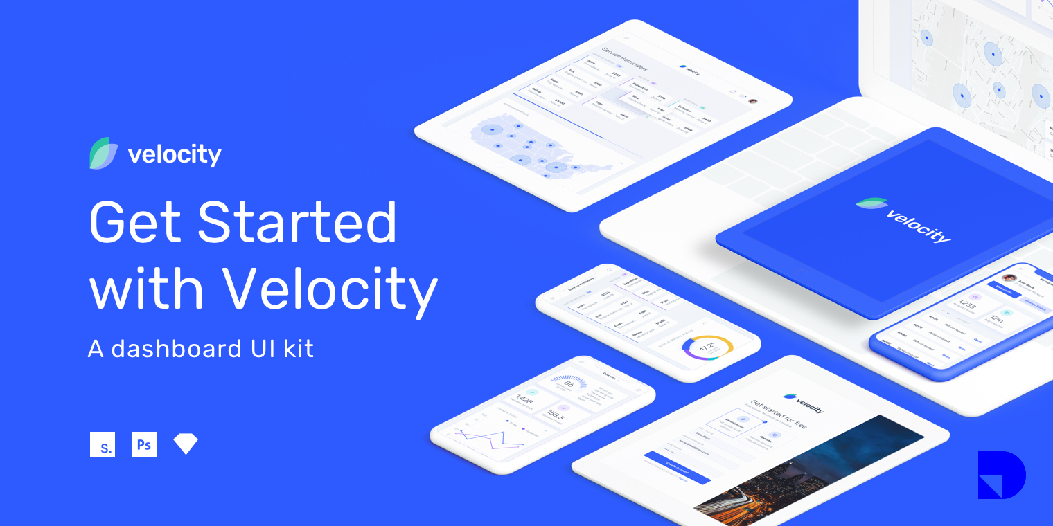 Velocity UI Kit: A dashboard UI kit with a robust design system