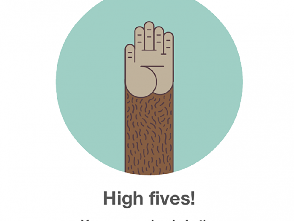 A mini oral history of the Mailchimp high five | Inside Design Blog