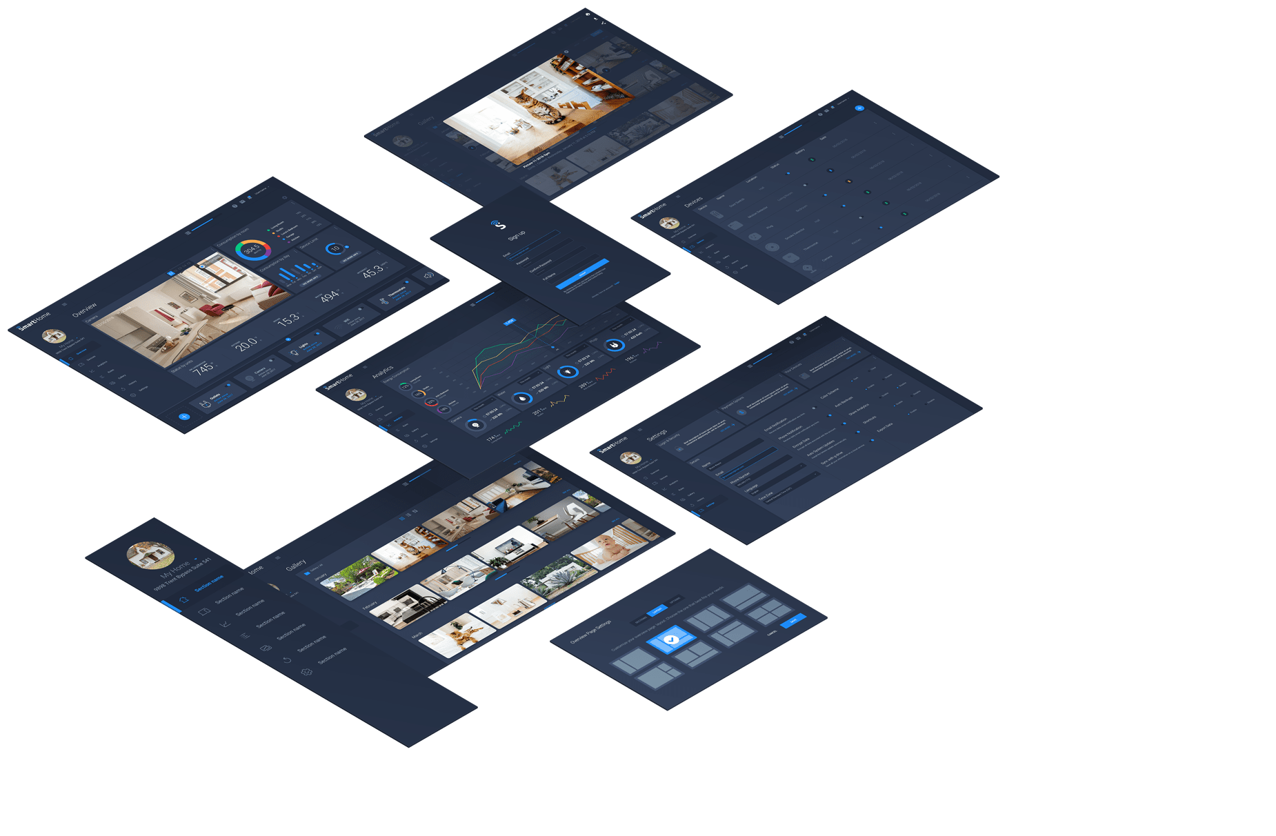 Smart Home—A digital UI Kit for the physical world by InVision