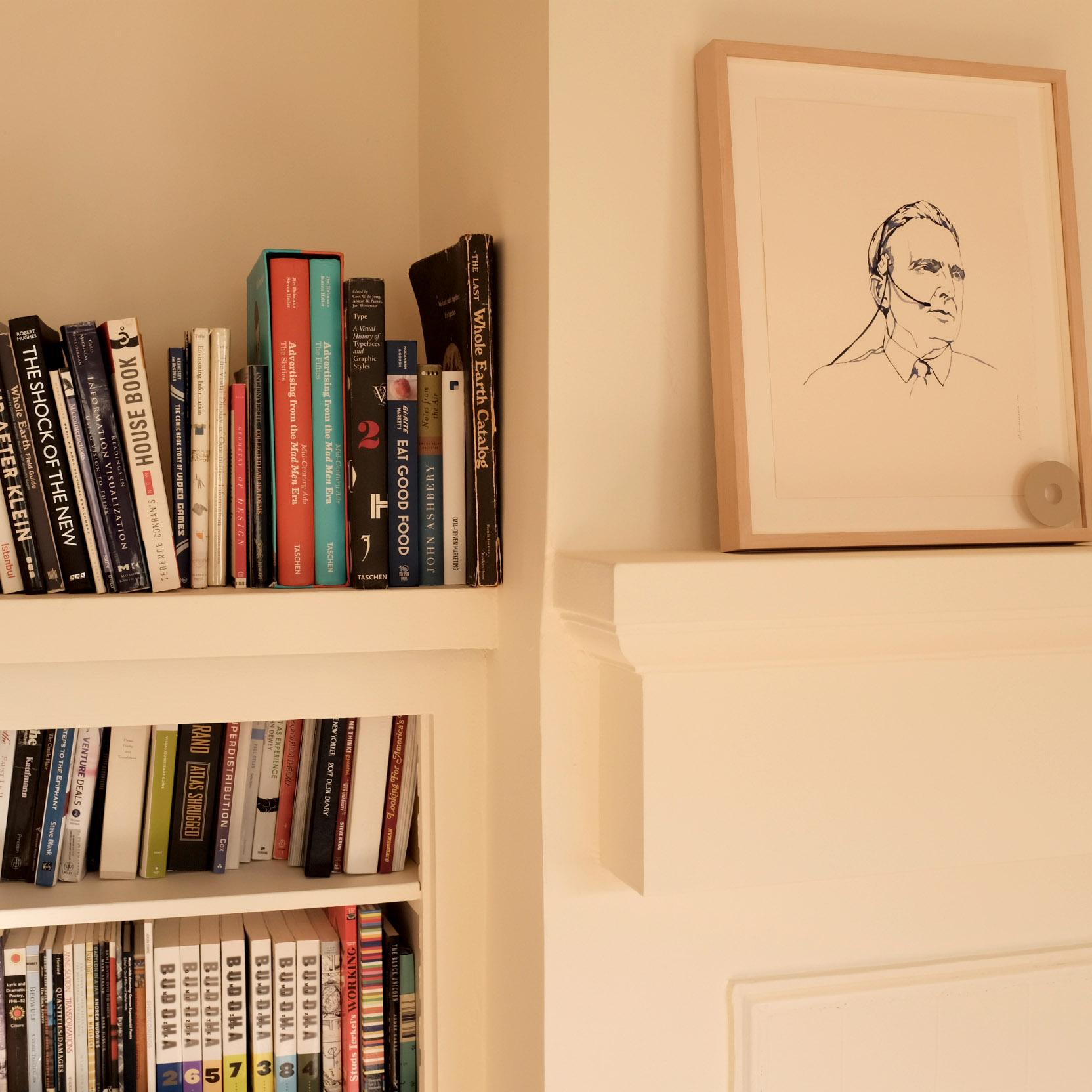 IMAGE: Bookshelves at Notion office