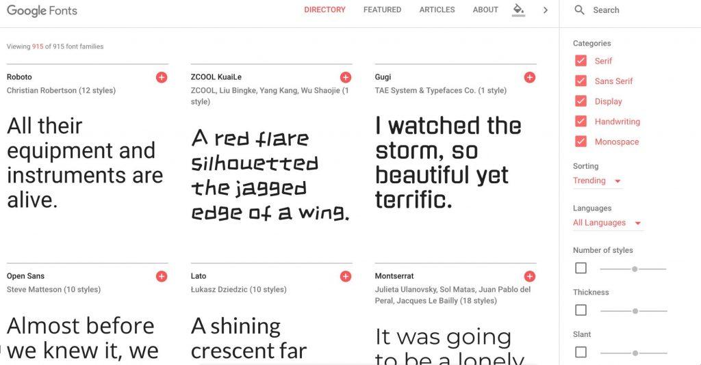 11 Google Fonts for your next design | Inside Design Blog