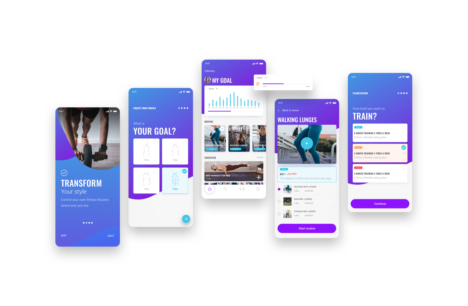 fitgoal—The UI Kit that checks itself out in the mirror