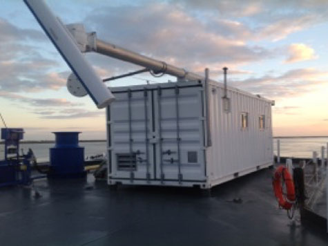 Level C - Containerized X-Band Radar Oil Detection and Thermal Infrared Camera System