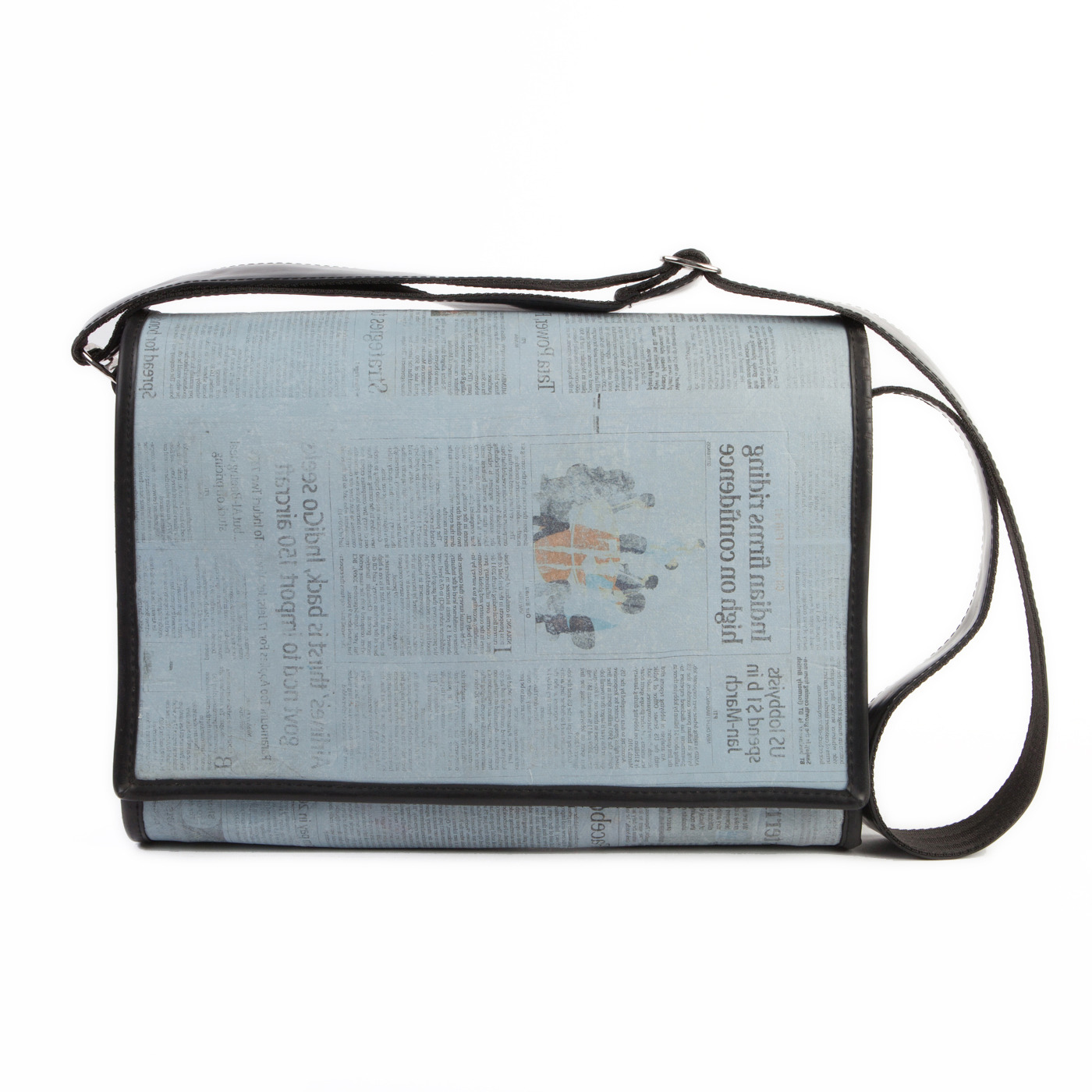Artisan, Eco-Friendly, Designer Breaking News Messenger Bag