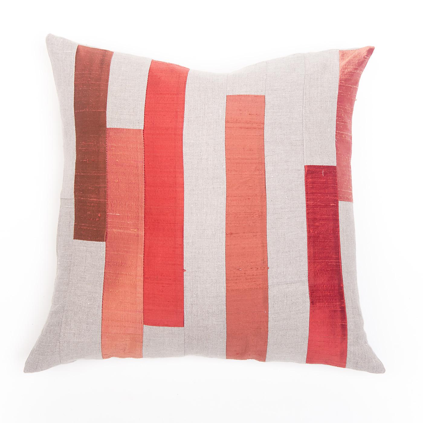 "Artisan, Eco-Friendly, Designer Silken Stripes Pillow 18"" x 18"""